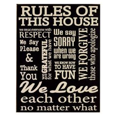 House Rules Sign $24.99