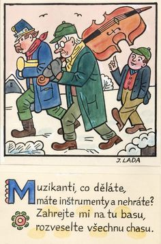 Kalamajka – Muzikanti co děláte, 1913 Quentin Blake, Folklore, Illustrators, The Past, Clip Art, Embroidery, Comics, Retro, Drawings