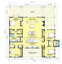 Farmhouse Style House Plan - 3 Beds 2.5 Baths 2168 Sq/Ft Plan #888-7 Floor Plan - Main Floor Plan - Houseplans.com
