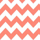 Coral Chevron fabric by newmom for sale on Spoonflower - custom fabric, wallpaper and wall decals