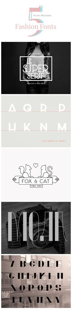 5 Free #Fonts #typography