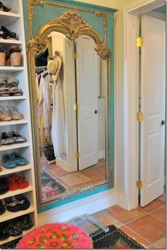 gorgeous mirror- would love to do something like this in the half bath