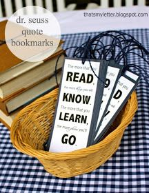 Book themed party (bookmark gift-printable)