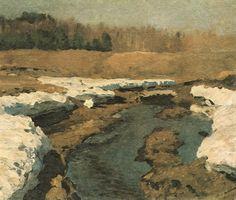 Исаак Левитан » Малоизвестные пейзажи, картины » Последний снег
