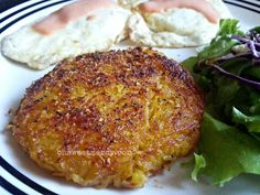 Squashbrowns! Spaghetti Squash Hash Browns make a delicious low-carb addition to breakfast. Read about the one trick to making them crispy brown like taters