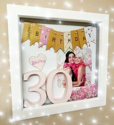 Birthday box frame. by TashasTreasuresShop on Etsy
