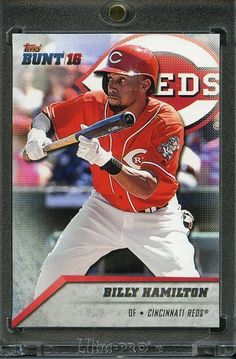 2016 Topps Bunt Baseball 1/1 Blank Back. Billy Hamilton REDS