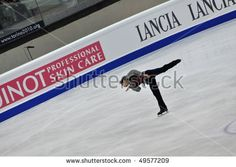 TURIN, ITALY - MARCH 25: Professional japanese skater Daisuke TAKAHASHI perform free skating during the 2010 World Figure Skating Championship on March 25, 2010 in Turin, Italy.