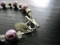 Pink Pearl and Metal Bracelet by illojewelry on Etsy