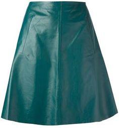 Carven a-line leather skirt on shopstyle.com