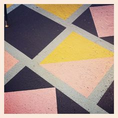 """Amazing painted floor at Wooly Bully in North Melbourne."""