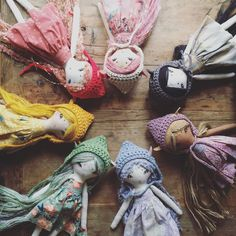 """This listing is for one crochet cotton pixie cap! Each hat is made by hand and fits perfectly on my 14"""" pixie dolls and unicorns."""