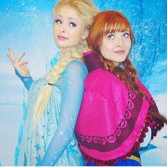 Real life Frozen sisters #elsa #anna #elsalookalike #annalookalike #frozen #disney #reallifeelsa #reallifeanna #reallifefrozensisters #realsisters