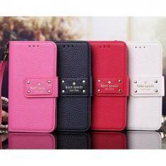 ケイトスペード iPhone7/7 Plus/6s/SEケース 手帳型ストラップ付き シンプル Kate Spade Galaxy s7 edge/s6ケース…