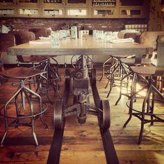 Train Crank Table | Vintage Industrial Furniture