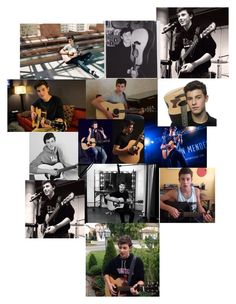 """""""Shawn Mendes And His Guitar!!!☺️!!        By:Nicole"""" by puppylover920071 ❤ liked on Polyvore featuring arte"""