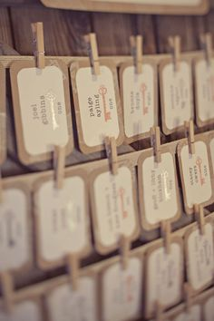 antique keys ~ escort cards