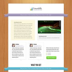 Convertible Landing Page Wordpress Theme for Sell you Products