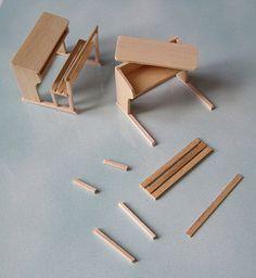 Fabrication d' un pupitre miniature