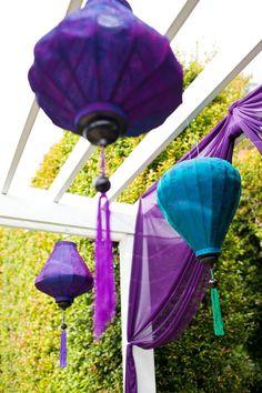 laterns in purple... so pretty