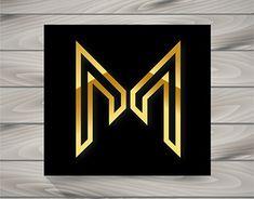 Logo Concept letra M M Letter Design, Football Logo Design, Mm Logo, Typographic Logo, Initials Logo, Vintage Typography, Logo Concept, Letter Logo, Logo Design Inspiration