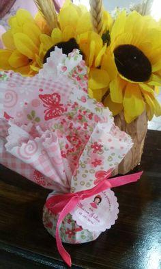 Lembrsncinha Cha de Bebe Festa Junina - mini Pao de Mel