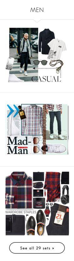 """MEN"" by granatina ❤ liked on Polyvore featuring Paul Smith, Uniqlo, Vans, Casetify, Giorgio Armani, men's fashion, menswear, Alex Mill, Dita and Forever 21"