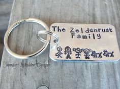 Key Chain in Aluminum   Personalized Key Chain  Hand by Jlwhiddon,
