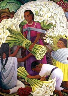 La vendedora de flores de Diego Rivera