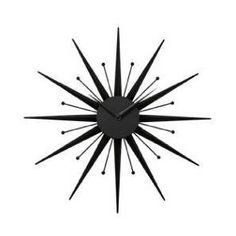 black modern wall clock