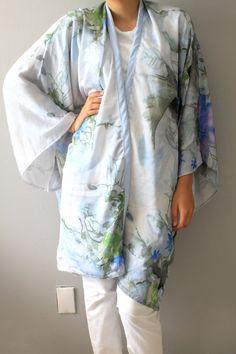 Check out this item in my Etsy shop https://www.etsy.com/listing/243913843/silk-kimono-kimonolight-blue-silk-kimono