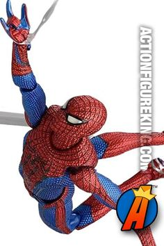 Fully poseable Figma 6-inch scale Amazing Spider-Man figure. #maxfactory #figma #spiderman