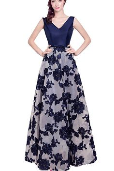 Womens Lace Long Prom Dresses 2017 Floral Bridesmaid Dresses at Amazon Women's Clothing store: