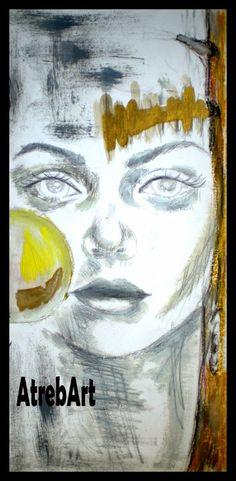 "AtrebArt: Bozzetto  ""The Healer"".  Pastelli a olio e pittura..."