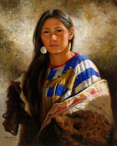 Beautiful Native Woman by Alfredo Rodriguez.: