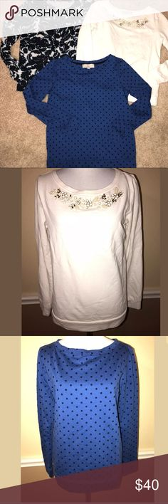 Ann Taylor Loft shirts Sz Small EUC! Lot of 3 Ann Taylor Loft crewneck shirts in size small. Please see pics for measurements and details. In excellent condition and from smoke free home. All measure about the same, white one is slightly smaller than other two. LOFT Tops Sweatshirts & Hoodies