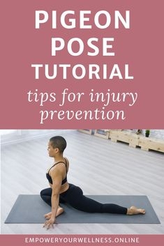 Pigeon pose is a popular yoga pose for hip flexibility but can be uncomfortable for many. This quick video tutorial gives you plenty of tips to adapt your pose to make it comfortable for your body. PIgeon pose for beginners | pigeon pose modification | pigeon pose variation #kneepain #hippain #pigeonpose Asana Yoga Poses, All Yoga Poses, Basic Yoga Poses, Yoga Tips, Beginner Yoga, Yoga For Beginners, Chest Opening, Pigeon Pose, Yoga Pictures