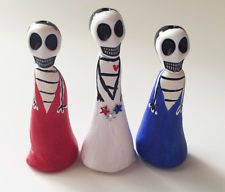 Day of the Dead-Dia de los Muertos Miniature Doll 4th July USA Shrine Altar Doll
