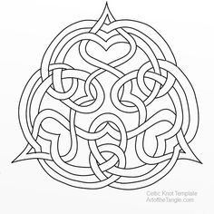 Celtic Knot Template 17 * not designed for glass