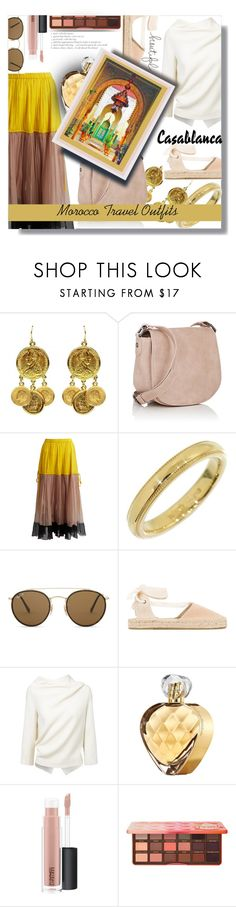 """""""Morocco Travel Outfits"""" by sarahguo ❤ liked on Polyvore featuring Deux Lux, N°21, Tiffany & Co., Ray-Ban, Soludos, Casablanca, Roland Mouret, Elizabeth Arden, MAC Cosmetics and Too Faced Cosmetics"""