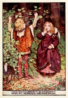 Minnie Dibdin Spooner~The Babes in the Woods by Unknown (16th Century)~ The Golden Staircase: Poems and Verses for Children, 1906~ via Archive.org