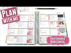 PWM: SHABBY ROSE Plan With Me | Erin Condren Life Planner Horizontal Layout Weekly Spread #46 - YouTube