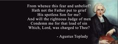 From Whence This Fear and Unbelief - Agustus Toplady