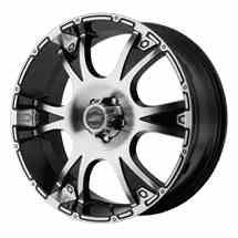 American Racing Dagger Black Wheels http://www.thewheelconnection.com/