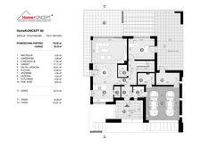 Projekt domu HomeKONCEPT-60 | HomeKONCEPT 2 Storey House Design, Dream House Exterior, Villa Design, Modern House Plans, Floor Plans, How To Plan, Final Fantasy, Houses, Top