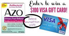 AZO UTI Defense + Enter to win a $100 gift card!