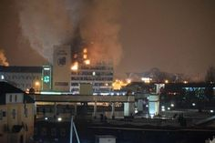Press house in Grozny, Russia up in flames after militants take over 12/3/14