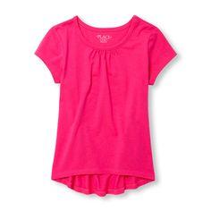 Girls Matchables Short Sleeve Hi-Low Top