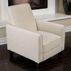 6. Best Selling Davis Fabric Recliner Club Chair, Light Beige