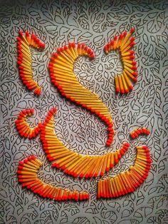 ideas diy decorao canvas fabrics for 2019 Rangoli Designs Latest, Rangoli Designs Flower, Small Rangoli Design, Colorful Rangoli Designs, Rangoli Ideas, Rangoli Designs Diwali, Flower Rangoli, Beautiful Rangoli Designs, Ganesha Painting